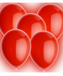 Rode LED Ballonnen bij Partydrink