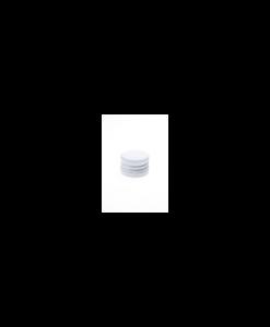 Witte aluminium schroefdop