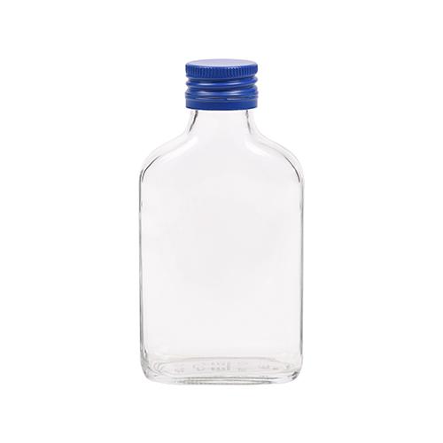 100ml flesje zakflacon met blauwe aluminium schroefdop met garantiering