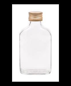 100ml flesje zakflacon met goudkleurige aluminium schroefdop met garantiering