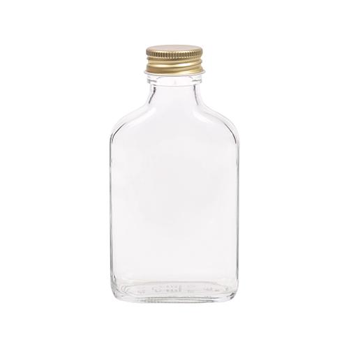 100ml flesje zakflacon met goudkleurige aluminium schroefdop