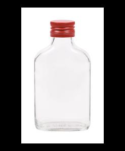 100ml flesje zakflacon met rode aluminium schroefdop met garantiering