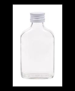 100ml flesje zakflacon met witte aluminium schroefdop met garantiering