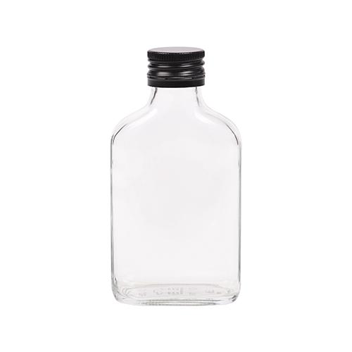 100ml flesje zakflacon met zwarte aluminium schroefdop met garantiering