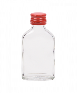 20ml miniflesje met rode schroefdop