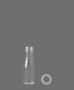 Mini Miniatuur 20ml rond PETFlesje