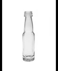 20ml flesje met Witte aluminium Schroefdop voor monsters en olien