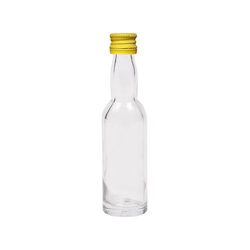 40ml flesje met zwanenhals met gele aluminium schroefdop met garantiering