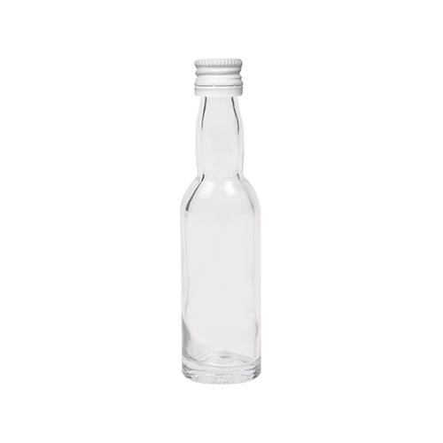 40ml flesje met zwanenhals met witte aluminium schroefdop met garantiering
