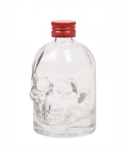 Doodskop flesjes met rode aluminium schroefdop om zelf te vullen