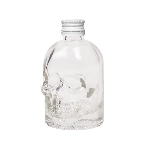 Doodskop flesjes met witte aluminium schroefdop om zelf te vullen