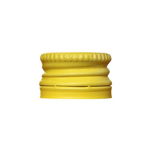 Gele Aluminium Schroefdop pilfer proof PP18 met garantiering garantiesluiting