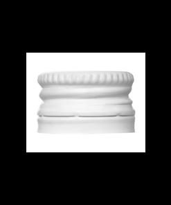 Witte Aluminium Schroefdop pilfer proof PP18 met garantiering garantiesluiting