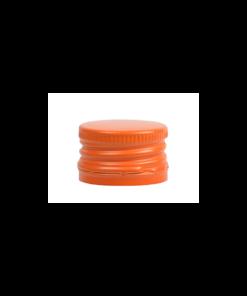 Oranje Aluminium Schroefdop PP28 met garantiering garantiesluiting