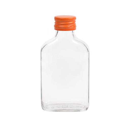 100ml flesje zakflacon met oranje aluminium schroefdop met garantiering