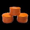 Oranje Schroefdoppen PP18 met garantiering Partydrink